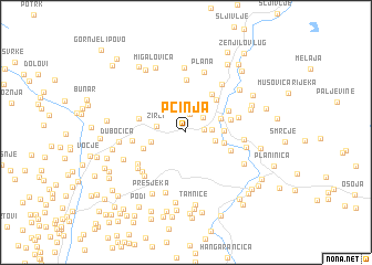 map of Pčinja
