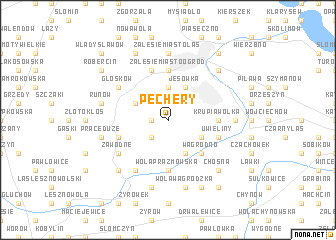 map of Pęchery