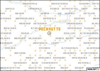 map of Pechhütte