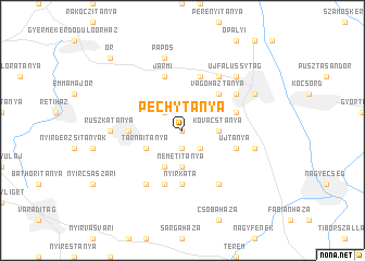 map of Péchytanya