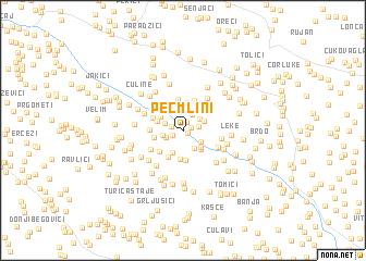 map of Peć Mlini