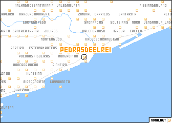 map of Pedras de El-Rei