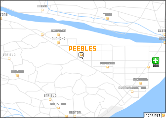 map of Peebles