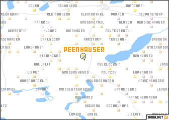 map of Peenhäuser
