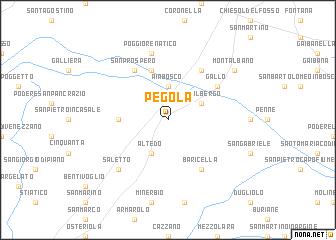 map of Pegola