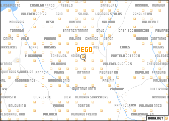 map of Pego