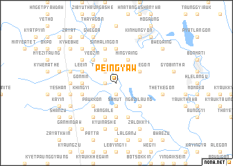map of Peingyaw