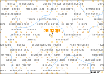 map of Peinzáis