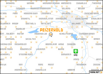 map of Peizerwold