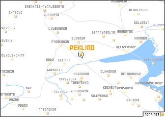 map of Peklino