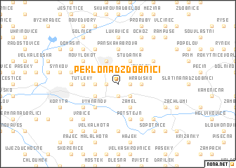 map of Peklo nad Zdobnicí