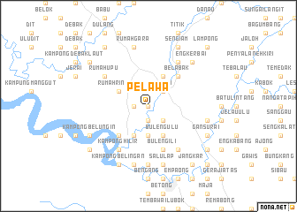map of Pelawa