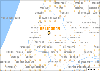 map of Pelicanos