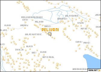 map of Pelivani