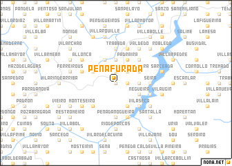 map of Peñafurada