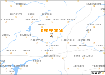 map of Pen-ffordd