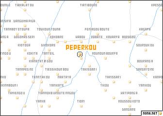 map of Peperkou