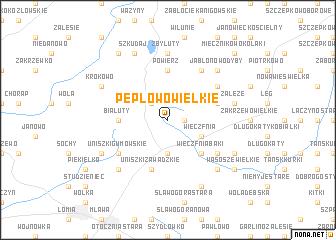 map of Pepłowo Wielkie