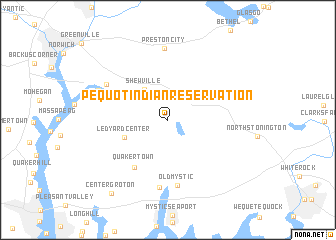 Pequot Indian Reservation United States USA Map Nonanet - Indian reservations us map
