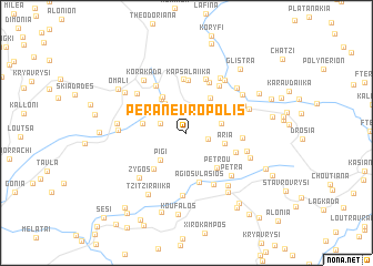 map of Péra Nevrópolis