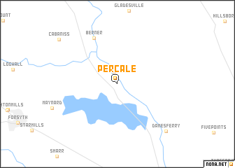 map of Percale