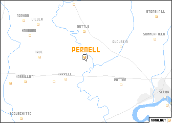 map of Pernell