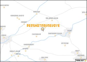 map of Pershotravnevoye