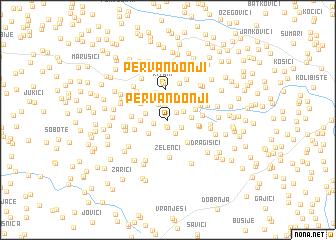 map of Pervan Donji