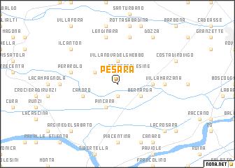 map of Pesara