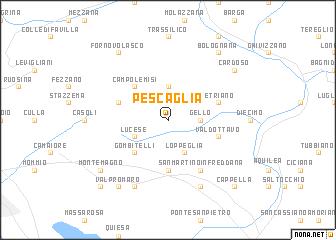map of Pescaglia