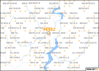 map of Pesoz