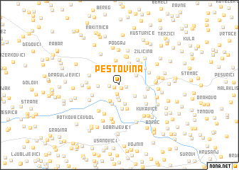 map of Peštovina