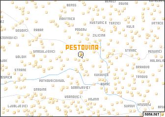 map of Peštovina