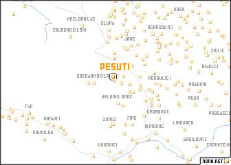 map of Pešuti