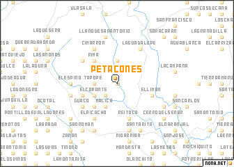 map of Petacones