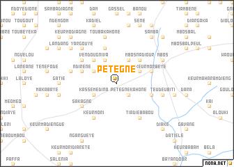 map of Pétègne