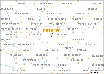 map of Péterfa