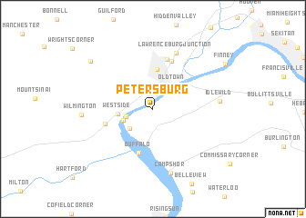 map of Petersburg