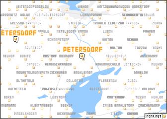 map of Petersdorf
