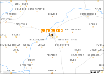 map of Péterszög