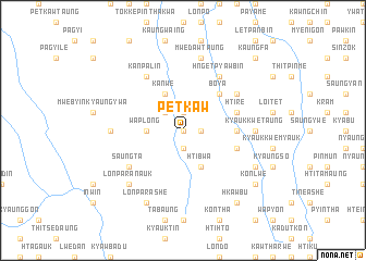 map of Petkaw