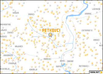 map of Petkovci