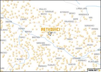 map of Petkovići
