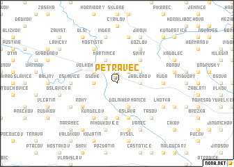 map of Petráveč
