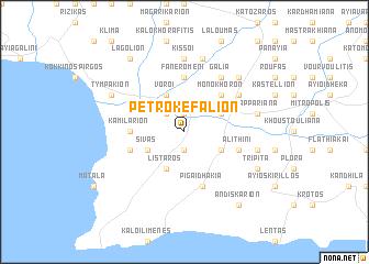 map of Petrokefálion