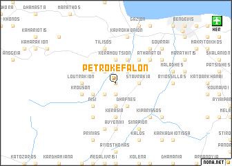 map of Petrokéfalon