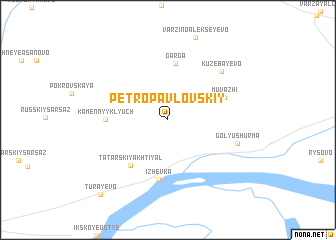 map of Petropavlovskiy