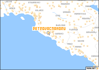 map of Petrovac na Moru