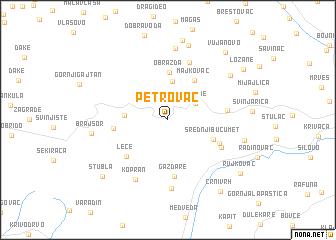Petrovac (Serbia and Montenegro) map - nona.net
