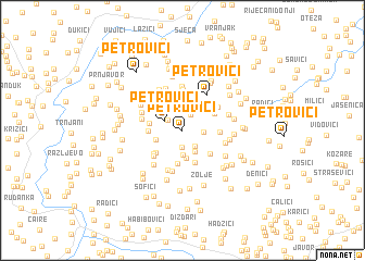 map of Petrovići